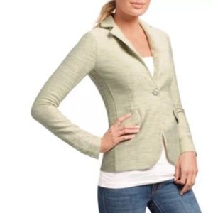 CAbi Lemon Zest Tweed Blazer Jacket Sz 14 #713
